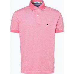 Tommy Hilfiger - Męska koszulka polo, różowy. Fioletowe koszulki polo marki KIPSTA, m, z elastanu, z długim rękawem, na fitness i siłownię. Za 249,95 zł.