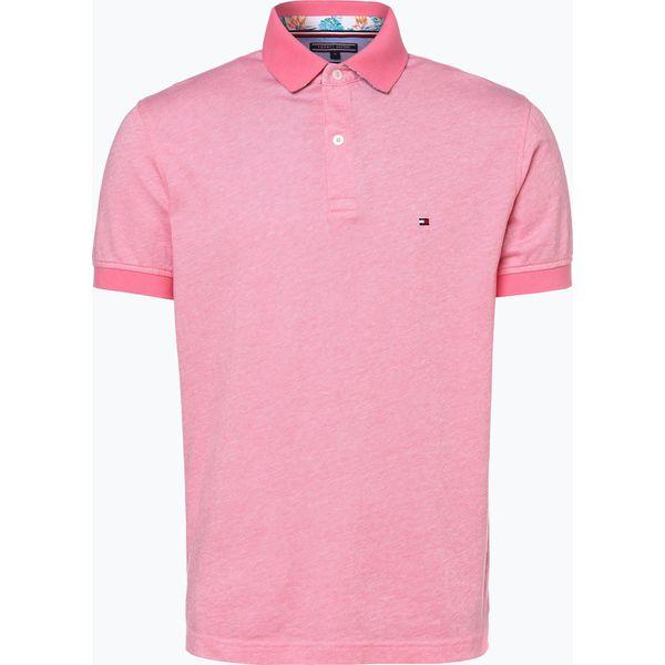 b06668bf0 Tommy Hilfiger - Męska koszulka polo, różowy - Różowe koszulki polo ...