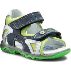 Sandały BARTEK - 81455-341 Niebiesko Biały. Niebieskie sandały męskie skórzane marki Bartek. W wyprzedaży za 159,00 zł.
