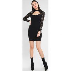 Sukienki: Missguided HIGH NECK CUT OUT CHEST MINI DRESS Sukienka koktajlowa black