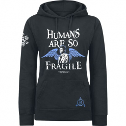 Supernatural Castiel - Humans Bluza z kapturem damska czarny. Czarne bluzy z kapturem damskie Supernatural, l, z aplikacjami. Za 184,90 zł.