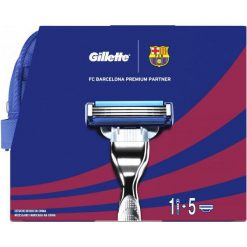 Kosmetyczki męskie: Gillette Zestaw mach3 Fc Barcelona (Maszynka + 5 Głowic + Żel Do Golenia 75 Ml + Kosmetyczka)