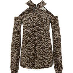 MICHAEL Michael Kors Bluzka dark camel/black. Brązowe bluzki damskie MICHAEL Michael Kors, xl, z elastanu. Za 739,00 zł.