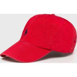 Polo Ralph Lauren - Czapka. Czerwone czapki z daszkiem męskie Polo Ralph Lauren, z bawełny. Za 169,90 zł.