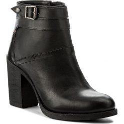 Botki WRANGLER - Arizona Ankle WL172610 Black 62. Czarne botki damskie skórzane Wrangler. W wyprzedaży za 279,00 zł.