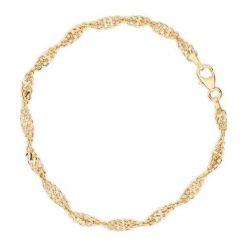 Bransoletki damskie na nogę: Unikalna Bransoletka Złota - złoto żółte 585
