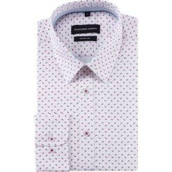 Koszula SIMONE KDWR000492. Białe koszule męskie na spinki Giacomo Conti, m, z bawełny, z klasycznym kołnierzykiem, z długim rękawem. Za 199,00 zł.