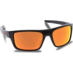 Okulary przeciwsłoneczne OAKLEY - Drop Point OO9367-1660 Polished Black/Prizm Ruby. Czarne okulary przeciwsłoneczne męskie aviatory Oakley, z tworzywa sztucznego. W wyprzedaży za 509,00 zł.