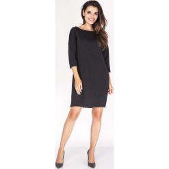 Sukienki: Czarna Sukienka z Dekoltem na Plecach
