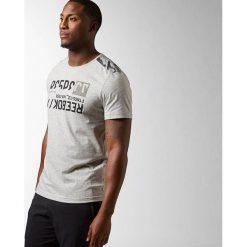 Reebok Koszulka męska Work Out Ready C Com TEE AOP  szary r. L (AK1478). Pomarańczowe koszulki sportowe męskie marki Reebok, z dzianiny, sportowe. Za 71,07 zł.