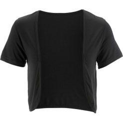 Bolerko shirtowe bonprix czarny. Czarne bolerka i narzutki damskie bonprix. Za 44,99 zł.