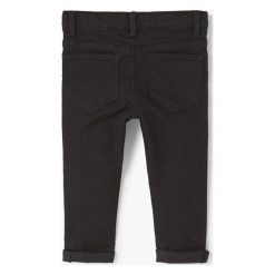 Mango Kids - Jeansy dziecięce Elena 80-98 cm. Fioletowe jeansy dziewczęce marki OLAIAN, z elastanu, sportowe. W wyprzedaży za 49,90 zł.