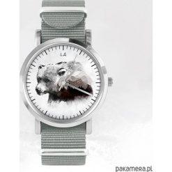 Zegarek - Niedźwiedź - szary, nato. Szare zegarki męskie N/A. Za 111,00 zł.