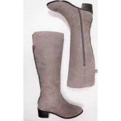 Mint&berry Kozaki grey. Szare buty zimowe damskie marki mint&berry, z materiału. W wyprzedaży za 254,50 zł.