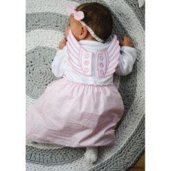 Sukienka niemowlęca Angel's wings Pink. Czerwone sukienki niemowlęce marki Pakamera, z dzianiny. Za 129,00 zł.
