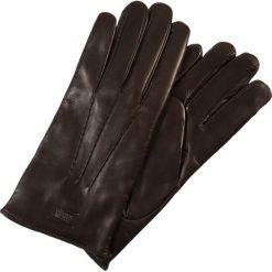 Rękawiczki męskie: Armani Collezioni GUANTO  Rękawiczki pięciopalcowe ebony