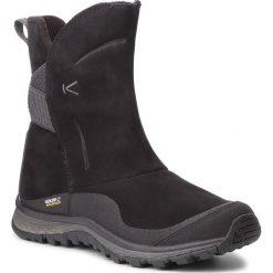 Śniegowce KEEN - Winterterra Lea Boot Wp 1019671 Black/Raven. Czarne buty zimowe damskie marki Keen, z materiału. W wyprzedaży za 419,00 zł.