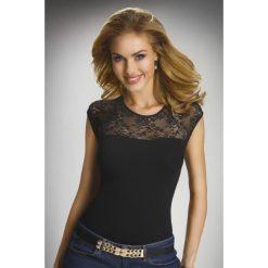 Bluzki damskie: Elegancka damska bluzka z krótkimi rękawami i koronką Paulina