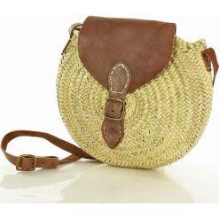 Torebka koszyk okragły round bag MAZZINI - ecru słomkowy. Żółte torby plażowe producent niezdefiniowany. Za 149,00 zł.