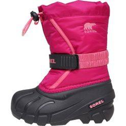Sorel FLURRY Śniegowce pink. Czerwone kozaki dziewczęce Sorel, z materiału. Za 229,00 zł.