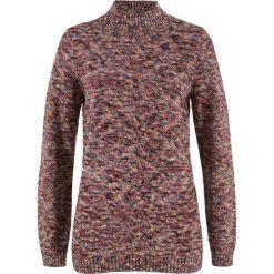 Sweter ze stójką bonprix czerwony kasztanowy - żółty melanż. Czerwone swetry klasyczne damskie bonprix, ze stójką. Za 74,99 zł.