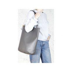Shopper bag XL szara klasyczna torba na zamek Vegan. Szare shopper bag damskie Hairoo, w paski. Za 155,00 zł.