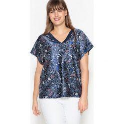 T-shirty damskie: T-shirt 2 w 1 satyna/dzianina