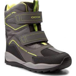 Buty zimowe chłopięce: Śniegowce GEOX – J Orizont B B. Abx E J740BE 0FU54 C0666 Grey/Lime