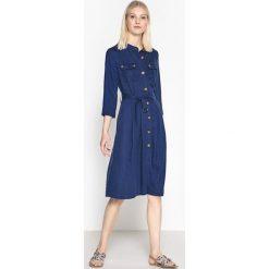 Sukienki: Sukienka szmizjerka zapinana z przodu