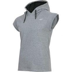Bluzy męskie: Bluza z krótkim rękawem męska TSM028 – chłodny jasny szary