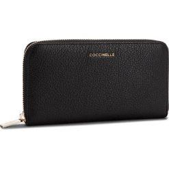 Duży Portfel Damski COCCINELLE - CW5 Metallic Soft E2 CW5 11 04 01 Noir 001. Czarne portfele damskie Coccinelle, ze skóry. Za 599,90 zł.