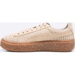 Puma - Buty Basker Platform OW Wn's. Szare buty sportowe damskie marki Puma, z gumy. W wyprzedaży za 269,90 zł.
