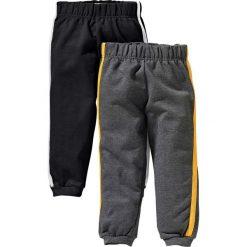 Spodnie dresowe (2 pary) bonprix czarny + antracytowy melanż. Czarne spodnie chłopięce marki bonprix, w paski, z dresówki. Za 39,98 zł.