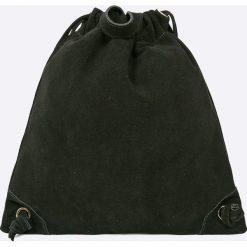 Answear - Plecak skórzany. Czarne plecaki damskie ANSWEAR, z materiału. W wyprzedaży za 159,90 zł.