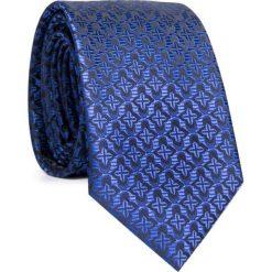 Krawat KWNR001613. Czarne krawaty męskie Giacomo Conti, w geometryczne wzory, z mikrofibry. Za 69,00 zł.
