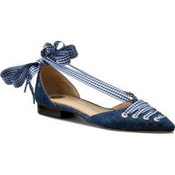 Półbuty ELISABETTA FRANCHI - SA-320-2278-V258 Blue Denim 104. Niebieskie creepersy damskie Elisabetta Franchi, z denimu, ze szpiczastym noskiem, na obcasie. W wyprzedaży za 769,00 zł.