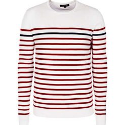 Swetry klasyczne męskie: Sweter w kolorze biało-czerwonym