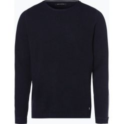 Marc O'Polo - Sweter męski, niebieski. Niebieskie swetry klasyczne męskie Marc O'Polo, l, w paski, z dzianiny, polo. Za 349,95 zł.
