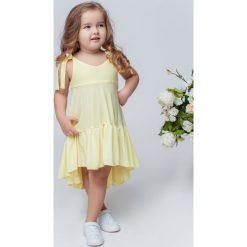 Sukienki dziewczęce na ramiączkach: Sukienka Mia żółta