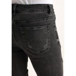 New Look URBAN BIKER Jeansy Slim Fit black. Czarne jeansy męskie marki New Look, z materiału, na obcasie. Za 189,00 zł.