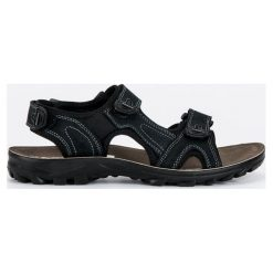Sandały męskie: SKÓRZANE SANDAŁY MĘSKIE – czarny