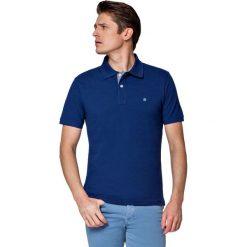 Koszulka Atramentowa Polo Jack. Niebieskie koszulki polo marki LANCERTO, m, z bawełny, z krótkim rękawem. W wyprzedaży za 69,90 zł.