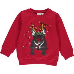 """Bluza """"Racool"""" w kolorze czerwonym. Czerwone bluzy chłopięce rozpinane Name it Kids, z aplikacjami, z bawełny. W wyprzedaży za 49,95 zł."""