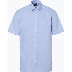 OLYMP Luxor modern Fit - Koszula męska niewymagająca prasowania, niebieski. Niebieskie koszule męskie na spinki marki OLYMP Luxor modern Fit, m, w kratkę. Za 149,95 zł.