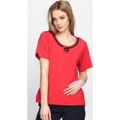 T-shirty damskie: Czerwony T-shirt Swash