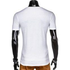 T-SHIRT MĘSKI Z NADRUKIEM S933 - BIAŁY. Białe t-shirty męskie z nadrukiem Ombre Clothing, m. Za 19,99 zł.