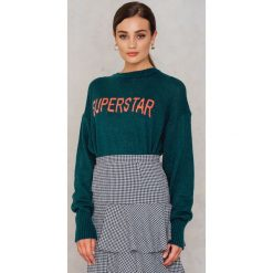 Swetry damskie: Colourful Rebel Sweter z dzianiny Sophie Superstar - Green