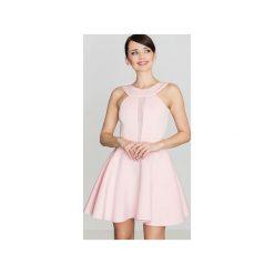 Sukienka K270 Róż. Czerwone sukienki na komunię marki Lenitif, xl, z dekoltem na plecach, dopasowane. Za 139,00 zł.