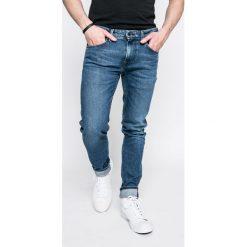 Pepe Jeans - Jeansy. Niebieskie jeansy męskie skinny Pepe Jeans, z aplikacjami, z bawełny. W wyprzedaży za 239,90 zł.