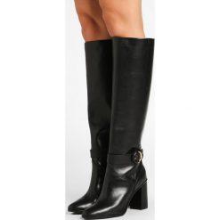 Ted Baker CELSIAR Kozaki na obcasie black. Czarne buty zimowe damskie Ted Baker, z gumy, na obcasie. W wyprzedaży za 1311,20 zł.